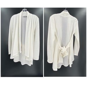 Neiman Marcus White Cardigan Size Small